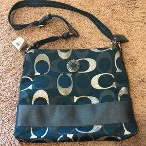 Coach teal bag